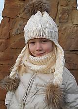Detské čiapky - v maslovej farbe.. - 4880929_