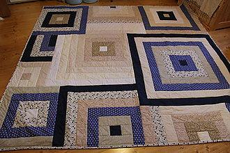 Úžitkový textil - Modro biele štvorce - 4881732_