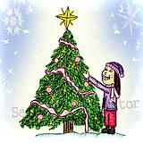 Papiernictvo - Dievčisko zdobí stromček :-D - 4881954_