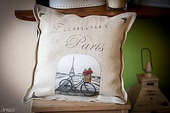 """Úžitkový textil - Vankúšik """" Paris"""" No.2 - 4882350_"""