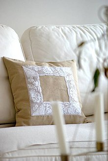 Úžitkový textil - Ľanová návlečka - Vintage 1 - - 4882952_