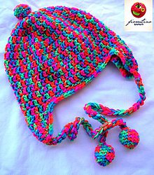 Detské čiapky - detská čiapka maxifarebná - 4882538_