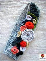 Ozdoby do vlasov - rozkvitnutá čelenka na uzimené ušká - 4883554_