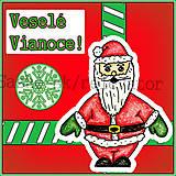Papiernictvo - Pán a pani Santoví vianočná pohľadnica - 4883872_