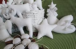 Dekorácie - vianočné ozdoby, biele ako sneh... - 4885307_