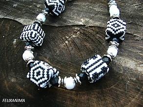 Náhrdelníky - BLACK AND WHITE náhrdelník - 4884538_