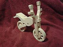 Hračky - Motorka drevená - 4884620_