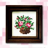 - Pixelové kvety - ružové NA ZÁKAZKU - 4884691_