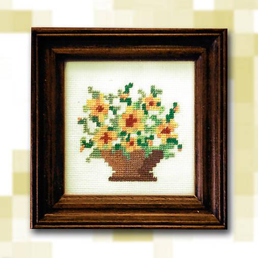 Pixelové kvety - žlté