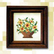 Obrazy - Pixelové kvety - 4884582_