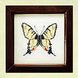 Obrázky - Vyšívané motýle - 4886228_