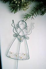 - anjelik(15cm) s perličkami-zápich - 4887970_