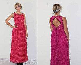 Šaty - Ružové spoločenské šaty - 4889410_
