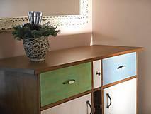 Nábytok - Príborník z dubového dreva - 4890032_