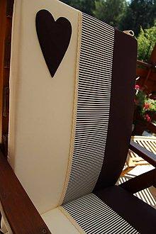 Úžitkový textil - podsedák na stoličku , záhradné kreslo vrchný  diel - 4890566_
