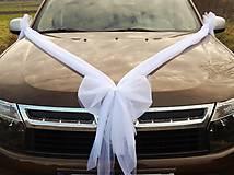 Dekorácie - Svadobná výzdoba na auto - mašľa - 4890224_