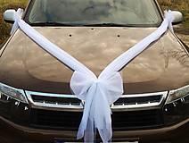 Dekorácie - Svadobná výzdoba na auto - mašľa - 4890226_