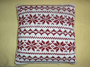 Úžitkový textil - Vankúše s nórskym vzorom. - 4894284_