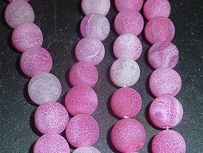 Minerály - Achát ružový praskaný 10mm - 4895133_