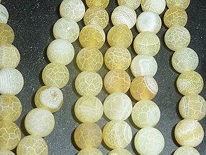 Minerály - Achát žltý praskaný 10mm - 4895139_