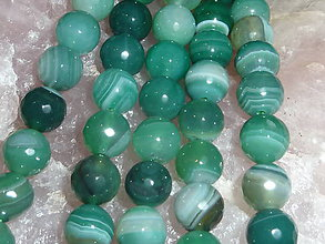 Minerály - Achát fazetovaný 10mm - 10 - 4895255_