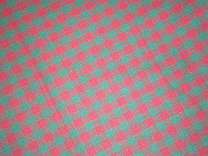 Textil - Kocka bordovo-zelená š.150cm - 4893538_