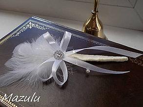 Pierka - svadobné pierko Marabou - 4895462_
