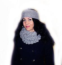 Ozdoby do vlasov - Čelenka...šedá Myška - 4895433_