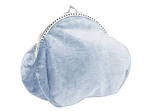 Kabelky - Zamatová kabelka modrá 0506-02 - 4898441_