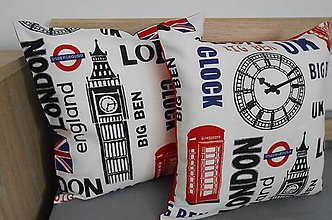 Úžitkový textil - SKLADOM - obliečka s motívom LONDON 2 - 4897567_