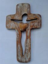 Dekorácie - Križ siluetový kukky chic - 4898583_