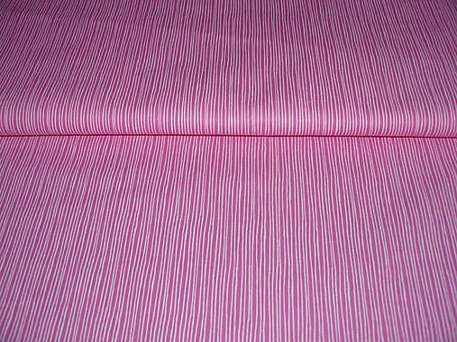 Látka ružová pásikavá