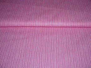 Textil - Látka ružová pásikavá - 4897498_