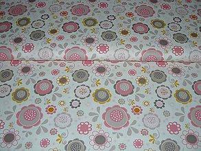 Textil - Francúzska látka kvietková - 4897535_