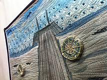 Obrazy - Art quilt-cesta do diaľav - 4899310_