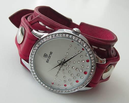 38076b14a Krásne dámske hodinky červené / leon - SAShE.sk - Handmade Náramky