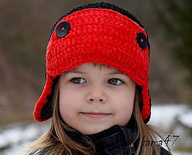 Detské čiapky - Zimná...letecká (upravená cena pre Muuza) - 4903461_