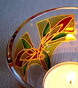 Svietidlá a sviečky - Rozkvitaj - na zlato - maľovaný sklenený svietniček - 4901951_