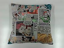 Úžitkový textil - Vankúš -komix - 4904210_