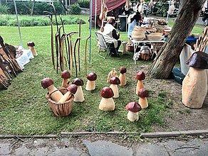 Socha - Hribiky z dreva lipového - 4901968_