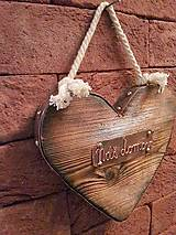 Drevené srdce s medeným kovaním