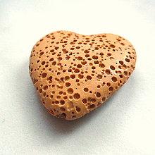 Minerály - Lávové srdce 28mm-1ks - 4903641_