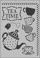 Pomôcky/Nástroje - Šablón Tea Time, KSG299 - 4905949_