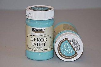 Farby-laky - Dekor soft paint, tyrkysovo modrá - 4907645_