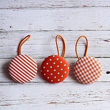 Ozdoby do vlasov - Gumičky do vlasov s buttonkami oranžové - 4909731_
