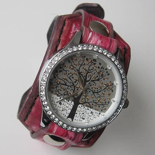 Bláznivé dámske hodinky červené   leon - SAShE.sk - Handmade Náramky 48e1074ada3