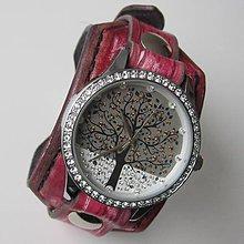 Náramky - Bláznivé dámske hodinky červené - 4906695_
