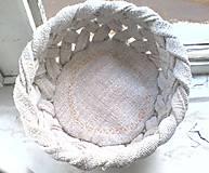 Košíky - Prepletaný košík - natur  - 4906143_