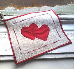 Úžitkový textil - romantické prestieranie - prírodné - 4906252_
