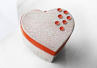 Krabičky - Srdiečko s porcelánovým efektom - 4906985_